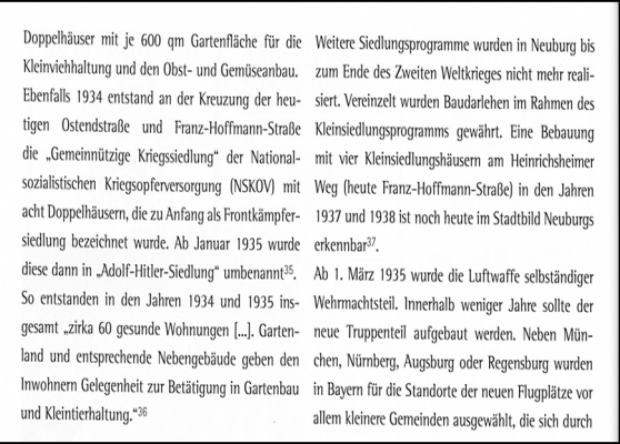 Adolf Hitler Siedlung Text